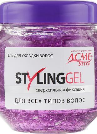 Гель для укладки волос сверхсильной фиксации Acme-Style Styling G