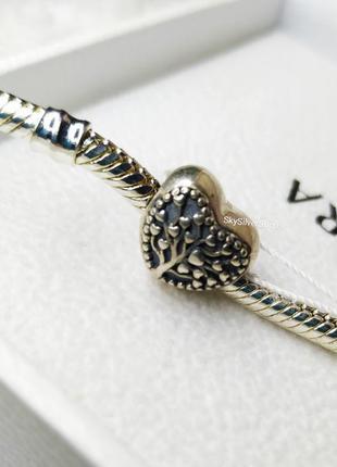 Бусина в стиле пандора, шарм на браслет серебряный