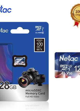 ОРИГИНАЛ!!! Netac карта памяти micro sd 128 ГБ 100 МБ/с
