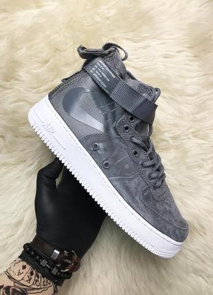 Серые мужские кроссовки nike air force special field gray