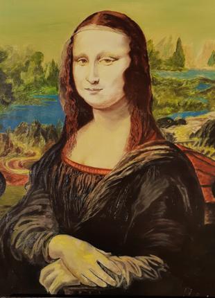 Джоконда, копия картины маслом на льняном холсте с подрамником.