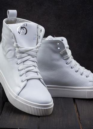 Женские зимние ботинки, белые кеды на меху