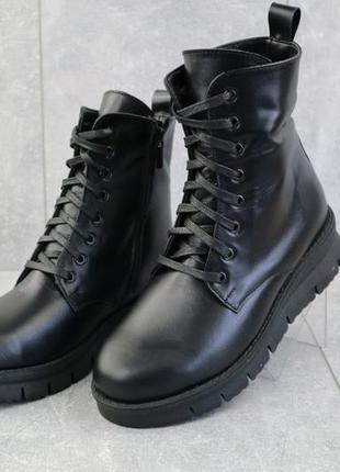 Женские ботинки зимние {натуральная кожа}