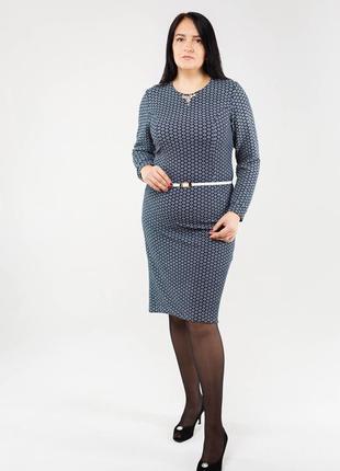 Женское стильное платье в больших размерах