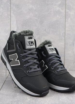 Мужские зимние кроссовки из натуральной кожи.
