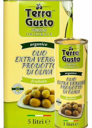 оливковое масло Тера Густо 5л