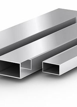 Алюминиевая труба (прямоугольная) 50х20х2мм АД31