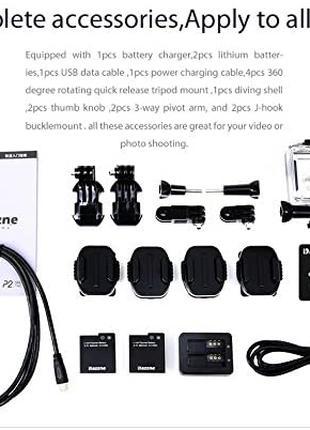 Водонепроникнаспортивнаекшн-камера Dazzne P2 WiFi HD 1080P