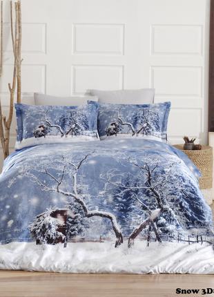 Новогоднее 3D постельное белье Snow First Choice
