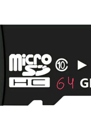 Micro SD HC Карта Памяти - 64 Гб. Gb