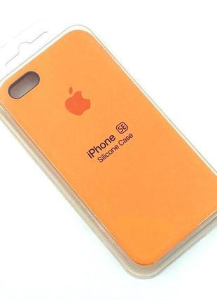 Чехол iPhone 5 / 5S/ SE Silicon Case #02 Papaya