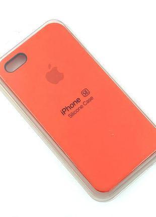 Чехол iPhone 5 / 5S/ SE Silicon Case #13 Orange
