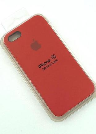 Чехол iPhone 5 / 5S/ SE Silicon Case #14 Red