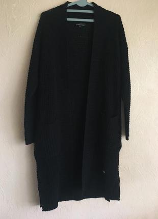 Чёрный кардиган/кофта с карманами