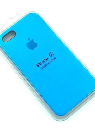 Чехол iPhone 5 / 5S/ SE Silicon Case #16 Blue