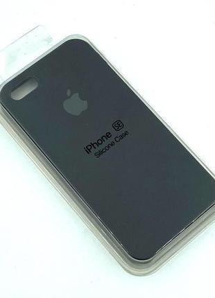 Чехол iPhone 5 / 5S/ SE Silicon Case #18 Black