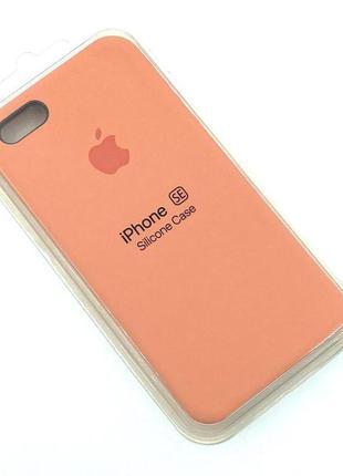 Чехол iPhone 5 / 5S/ SE Silicon Case #27 Peach