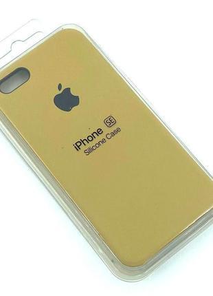 Чехол iPhone 5 / 5S/ SE Silicon Case #28 Sand