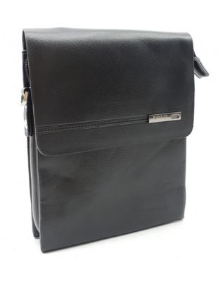Маленькая мужская сумка POLO из качественной кожи (b356-1)