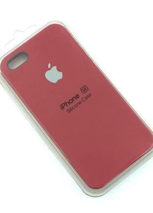 Чехол iPhone 5 / 5S/ SE Silicon Case #33 Cherry