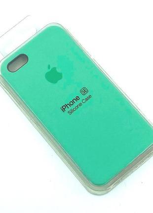 Чехол iPhone 5 / 5S/ SE Silicon Case #50 Spearmint