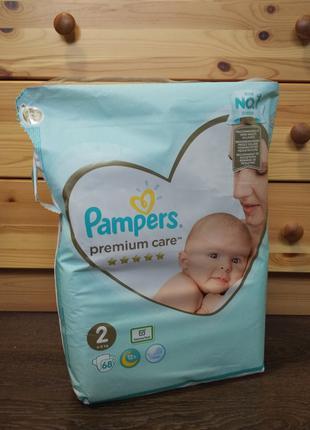 Подгузники Pampers Premium Care 2, 4-8кг 68шт