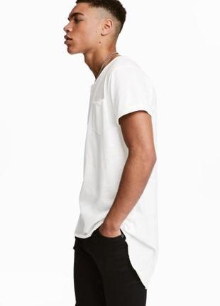 Оверсайзовая однотонная футболка h&m !