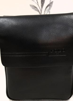 Стильная мужская сумка POLOчерная 98337-1
