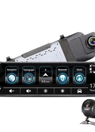 Зеркало видеорегистратор 10'' с камерой заднего вида
