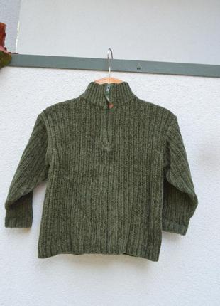 Красивая брендовая теплая кофточка свитер на мальчика 4 лет