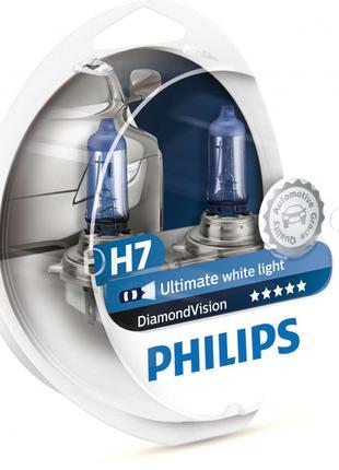 Автолампа Philips Diamond Vision H7 12V 55W  автомобильная лампа