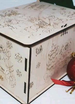Деревянная коробка, коробочка для подарков