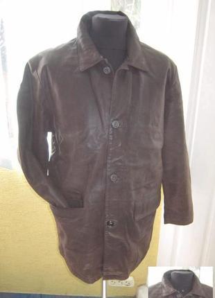 Большая мужская кожаная куртка  echtes leder. германия. 64р. л...