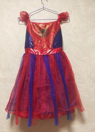 Новогоднее платье человек паук / карнавальный костюм детский д...