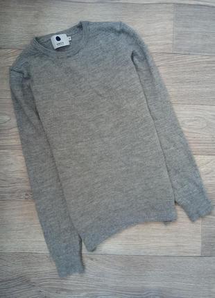 Базовый серый свитерок кофта гольф серого цвета