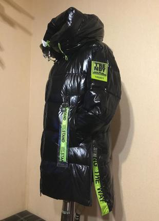 🔥шикарная🔥 зимняя куртка пуховик био  пух зима