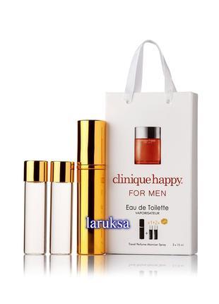 Подарочный набор мини парфюмерии clinique happy for men