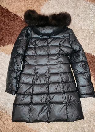 Пуховик черный зимняя куртка