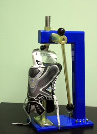 Клепка стаканов коньков на станке SharpMaster