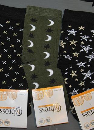 Демисезонные носки 5-7, 7-9, 9-11 лет bross бросс звезды луна ...