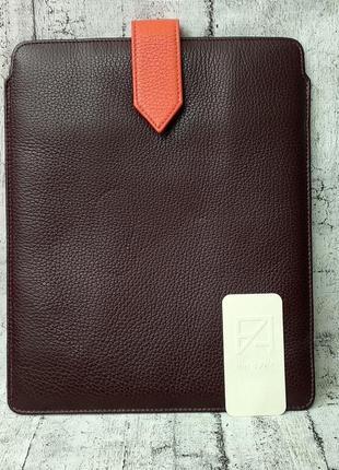 Кожаный чехол для ipad fabiano made in italy case prugna