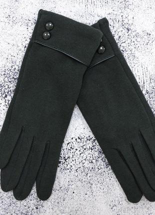 """Женские перчатки """"double"""" зеленые"""