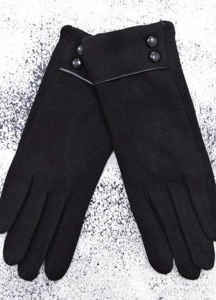 """Женские перчатки """"double"""" черные"""