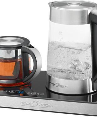 Электрочайник PROFI COOK PC-TKS 1056 (набор для чая и кофе)