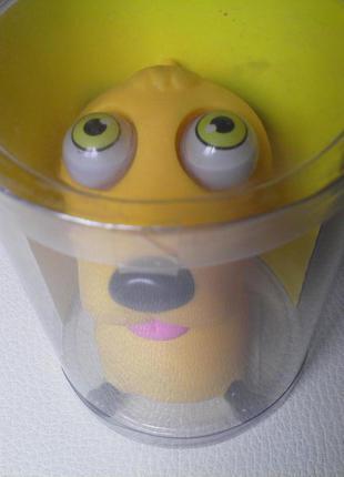 Подвеска-Брелок на сумку-собачка с отпадными глазами.