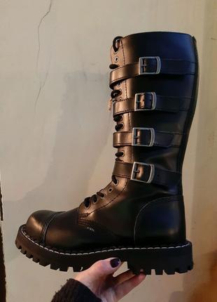 Ботинки берцы сапоги высокие steel стилы рок обувь