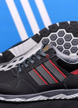 Кожаные демисезонные мужские кроссовки.харьковская обувь