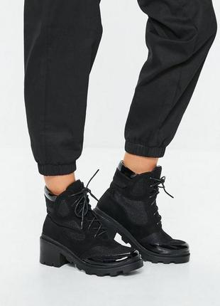Ботинки полусапожки на тракторной подошве missguided