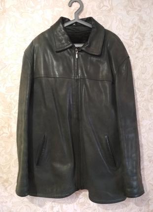 Куртка мужская кожаная осенне-зимняя - размер XXXL / 54-56 Турция