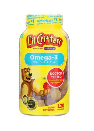 Рыбий Жир, Омега-3 Для Детей, Lil Critters, 120 Желейных Мишек